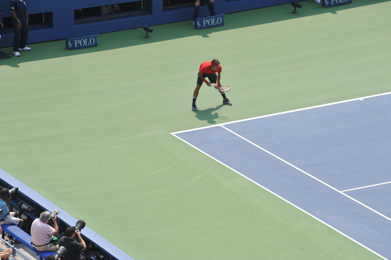 US OPEN TENNIS TOURNAMENT - Roger Federer